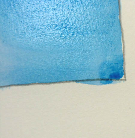 水彩絵の具の塗り方,基本1,平塗り